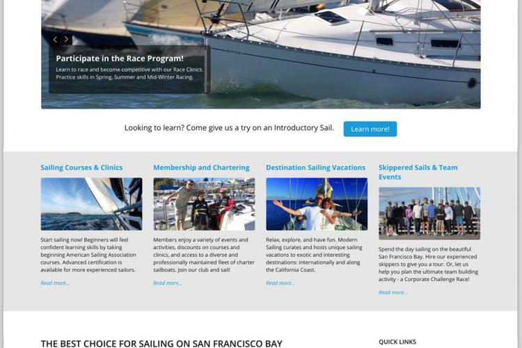 Modern Sailing Website