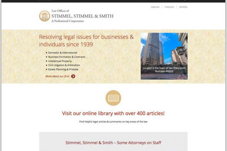 Stimmel site screenshot